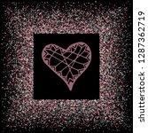 rose gold glitter heart frame.... | Shutterstock .eps vector #1287362719