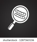 pan with sausages icon on black ...   Shutterstock .eps vector #1287363136