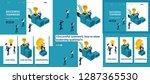 set template article  landing... | Shutterstock .eps vector #1287365530