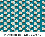 seamless pattern with pussy...   Shutterstock .eps vector #1287367546