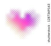 Vector Halftone Dots Heart...