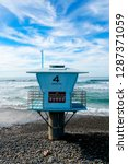 Blue Lifeguard Tower Number 4...