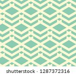 seamless turquoise vintage geo... | Shutterstock .eps vector #1287372316