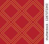 seamless red and gold vintage... | Shutterstock .eps vector #1287372343
