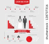 funny infographics style... | Shutterstock .eps vector #128737316