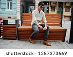 stylish indian model man in... | Shutterstock . vector #1287373669
