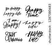 be happy  happy life  happy...   Shutterstock .eps vector #1287380683
