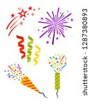 party set. complimentary... | Shutterstock .eps vector #1287380893