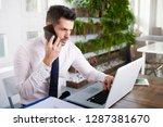 financial assistant businessman ... | Shutterstock . vector #1287381670