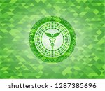 caduceus medical icon inside... | Shutterstock .eps vector #1287385696