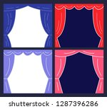 stages with curtains.... | Shutterstock .eps vector #1287396286