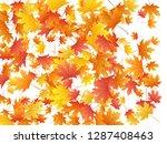 maple leaves vector background  ... | Shutterstock .eps vector #1287408463
