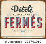 Vintage French Metal Sign   ...