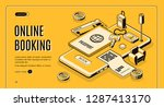 booking tickets  reserving... | Shutterstock .eps vector #1287413170