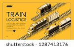 railroad industrial transport... | Shutterstock .eps vector #1287413176