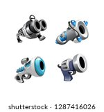 vector set of isolated metal... | Shutterstock .eps vector #1287416026
