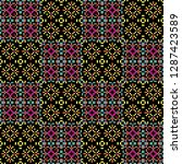 seamless pattern checkered... | Shutterstock . vector #1287423589