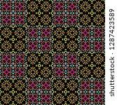seamless pattern checkered... | Shutterstock . vector #1287423589