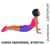 cobra abdominal stretch. old... | Shutterstock .eps vector #1287429139