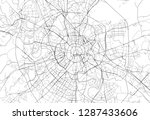 area map of moscow  russia.... | Shutterstock .eps vector #1287433606