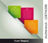template  vector eps10... | Shutterstock .eps vector #128744288