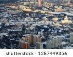 beautiful winter photo of... | Shutterstock . vector #1287449356