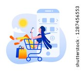 online mobile shopping scene...