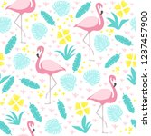 tropical seamless pattern with... | Shutterstock .eps vector #1287457900