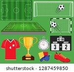 soccer set  football equipment... | Shutterstock .eps vector #1287459850