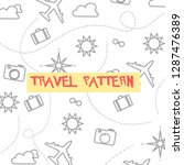 travel pattern elements  | Shutterstock .eps vector #1287476389