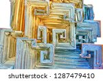 amazing colorful blue gold...   Shutterstock . vector #1287479410