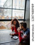 happy and romantic couple in... | Shutterstock . vector #1287488989