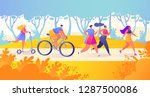 flat cartoon  trendy  vector... | Shutterstock .eps vector #1287500086