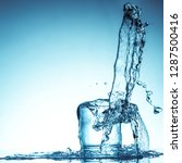 pure drinking water with... | Shutterstock . vector #1287500416