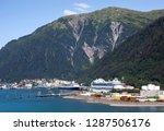 the industrial view of juneau... | Shutterstock . vector #1287506176