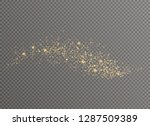 white sparks and golden stars... | Shutterstock .eps vector #1287509389