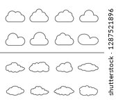 clouds thin line icon set... | Shutterstock .eps vector #1287521896