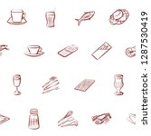 cutlery  drinks  seafood and... | Shutterstock .eps vector #1287530419