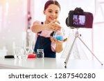 showing test tube. dark eyed... | Shutterstock . vector #1287540280