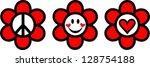peace love   happiness   vector ... | Shutterstock .eps vector #128754188
