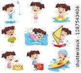 vector illustration of cartoon... | Shutterstock .eps vector #1287543406