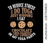 to reduce stress i do yoga ...   Shutterstock .eps vector #1287543823