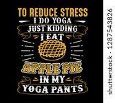 to reduce stress i do yoga ...   Shutterstock .eps vector #1287543826