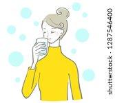 water drink woman | Shutterstock .eps vector #1287546400