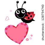 Cute Flying Ladybug Holding...