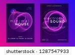 music flyer. abstract... | Shutterstock .eps vector #1287547933