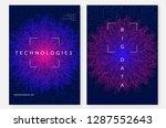 big data background. technology ...   Shutterstock .eps vector #1287552643