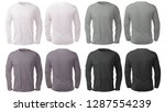 Blank Long Sleeved Shirt Mock...