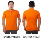 blank collared shirt mock up... | Shutterstock . vector #1287554260