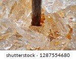 macro view of brown plastic... | Shutterstock . vector #1287554680
